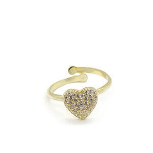 cavaliere-gioielli-anello-heart-gold